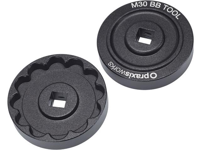 DMR AXE M30 Outil pour boîtier de pédalier seulement pour axes de 30 mm, black